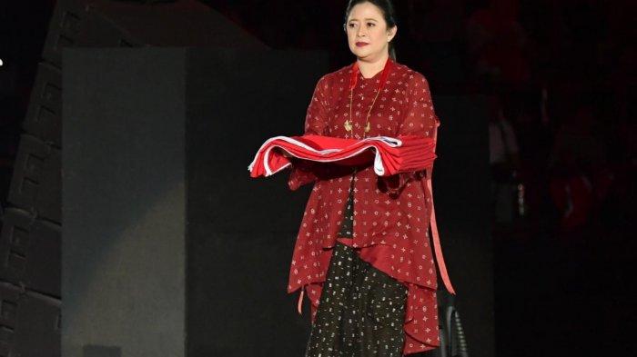 Menko Puan Bawakan Bendera Merah Putih Dalam Upacara Pembukaan Asian Para Games 2018