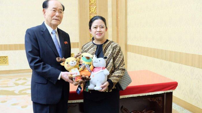 Undang Kim Jong Un, Menko Puan Beri Maskot Asian Games ke Pemerintah Korut