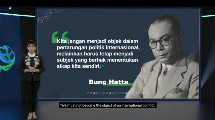 Mengutip Ucapan Bung Hatta, Menlu: Indonesia Berhak Tentukan Sikapnya Sendiri