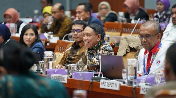 Rapat Dengan Komisi X, Menpora Paparkan Lima Program Prioritas Kemenpora