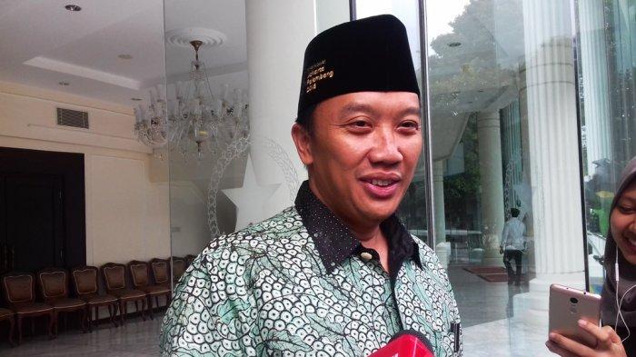 Menpora Imam Nahrowi  di kantor Wapres RI, Jalan Medan Merdeka Utara, Jakarta Pusat, Rabu siang (23/5/2018).