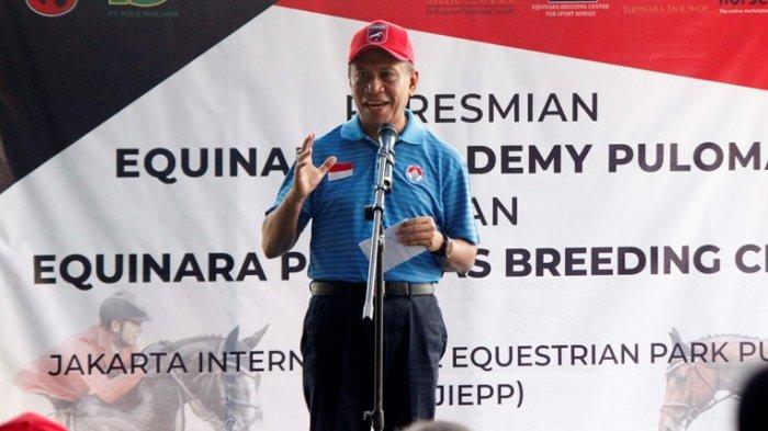 Menpora Zainudin Amali saat meresmikan Equinara Academy Pulomas di Jakarta International Equistrian Park Pulomas (JIEPP), Sabtu (14/12/2019). Tribunnews/Abdul Majid