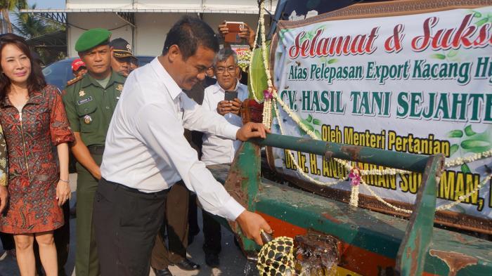 Mentan Lepas Ekspor Kacang Hijau 60 Ribu Ton ke Filipina dan Tiongkok