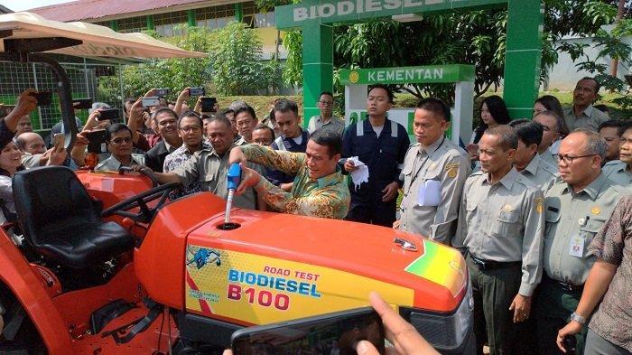 Amran Sulaiman Launching Uji Coba Perdana Penggunaan B100