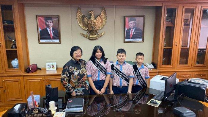 Tiga Siswa Ini Jadi Menteri Lingkungan Hidup dan Kehutanan Sehari