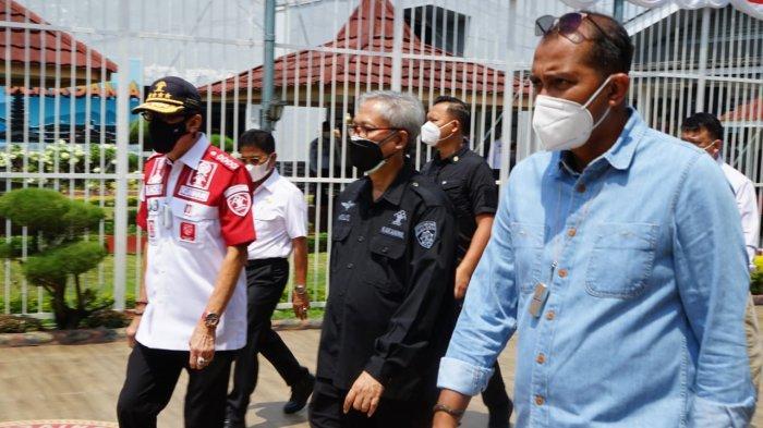 Menteri Hukum dan HAM Yasonna Laoly saat meninjau Lapas Klas I Tangerang