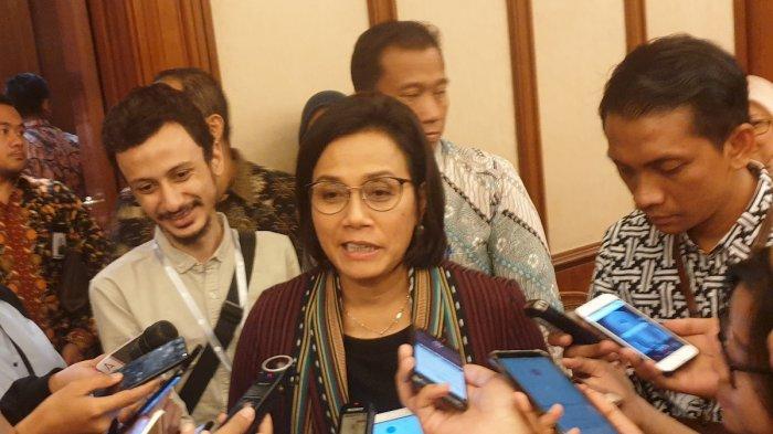 Menteri Keuangan Sri Mulyani di Gedung BI, Jakarta, Selasa (30/7/2019).