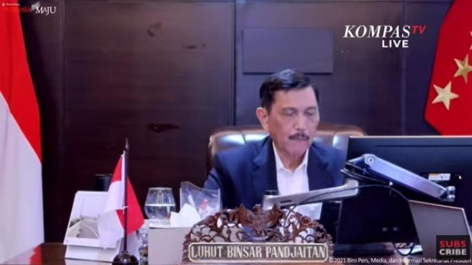 Evaluasi PPKM Jawa-Bali 11 Oktober 2021, Luhut Sebut Jumlah Kasus Konfirmasi dan Kematian Menurun