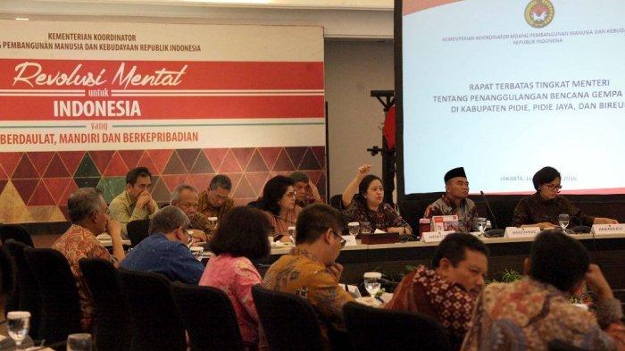 Menko PMK Rapat Terbatas Tingkat Menteri Bahas Penanggulangan Bencana Gempa Aceh