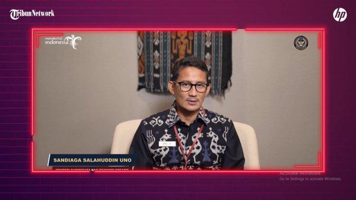 Menteri Pariwisata dan Ekonomi Kreatif Indonesia Sandiaga Uno avqvqv