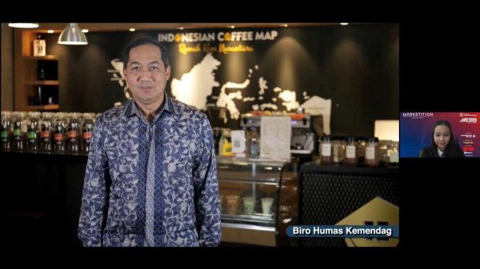 Menteri Perdagangan Republik Indonesia Muhammad Lutfi berikan sambutan di Marketition