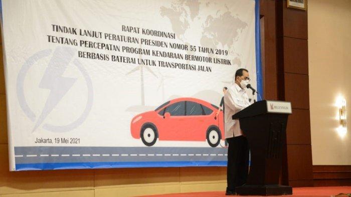 Menhub Susun Road Map Program Percepatan Kendaraan Listrik Berbasis Baterai