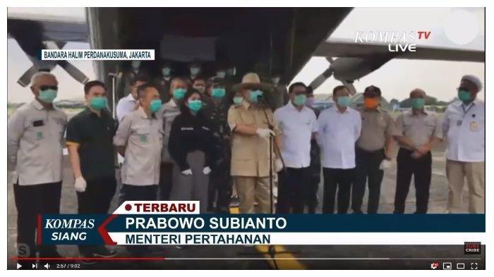 Menhan Prabowo Serahkan Bantuan APD dan Rapid Test Rp 7 Miliar ke Gugus Tugas Covid-19