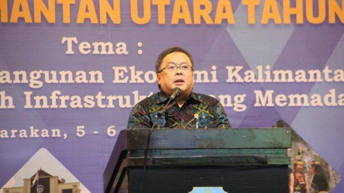 Menteri PPN/Bappenas Bambang Brodjonegoro dalam forum Musrenbang RKPD Kalimantan Utara Tahun 2016, Rabu (5/4/2017) pukul 13.30 Wita di Ballroom Hotel Tarakan Plaza