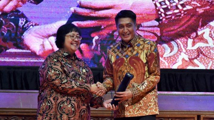 Menteri LHK Siti Nurbaya pada acara Festival Iklim di Gedung Manggala Wanabhakti, Rabu, 2 Oktober.