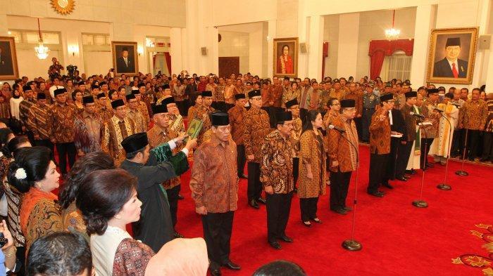 Menteri Kabinet Indonesia Maju (TRIBUNNEWS/DANY PERMANA)