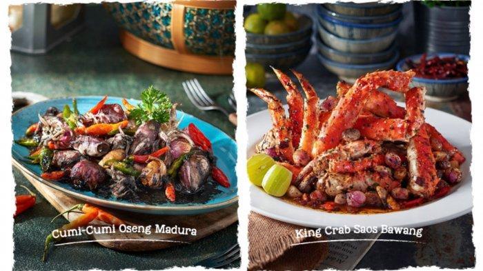 Menu seafood segar di Layar Seafood