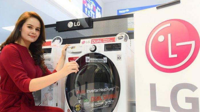 Teknologi Dual Inverter HeatPump Hemat Energi pada alat pengering pakaian terbaru LG.