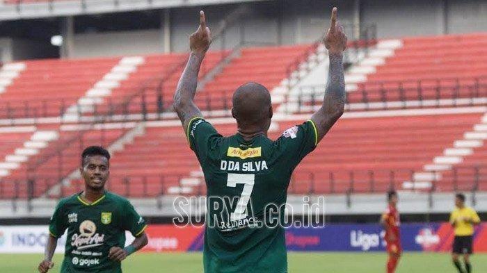 Mesin gol Persebaya Surabaya David da Silva.