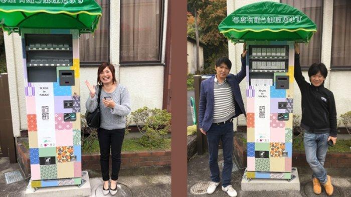 Jidohambaiki Ini Sangat Khusus Pertama Kali di Jepang Menjual Origami