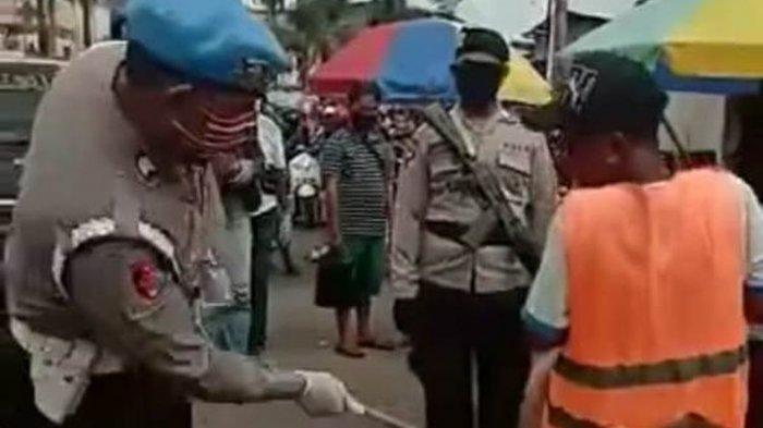 Fakta Lengkap Video Viral Warga yang Tak Gunakan Masker Dipukul Oknum Polisi dengan Tongkat Rotan