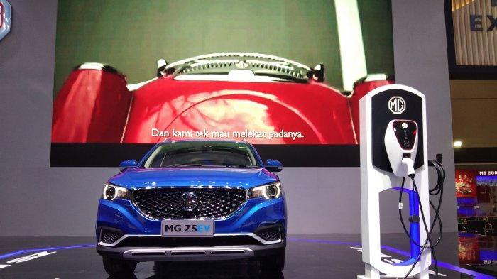 MG Pamer Mobil Listrik ZS EV di IIMS Hybrid 2021