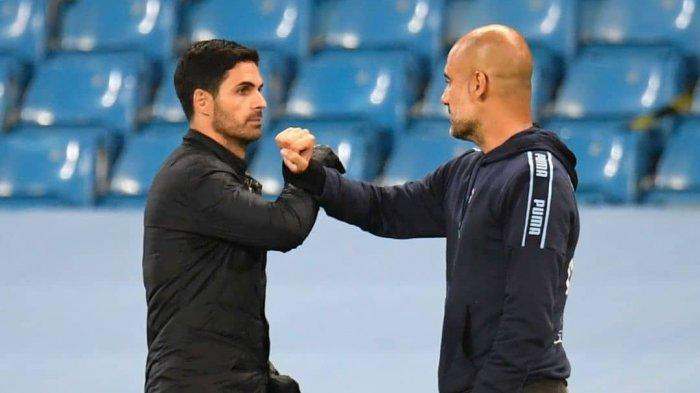 LIVE Streaming Arsenal vs Manchester City: Pisah Sejak 2019, Bagaimana Hubungan Arteta dan Pep Kini?