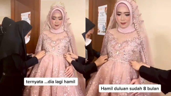 VIRAL Video Pengantin Hamil 8 Bulan saat Resepsi Pernikahan, MUA Ceritakan Momen sebelum Acara