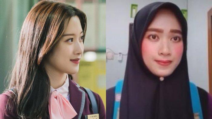 tvN / TikTok @zialika Viral wanita mirip Lim Ju Kyung dalam drama Korea True Beauty.