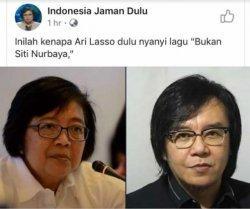 Siti Nurbaya dan Ari Lasso disbeut mirip.