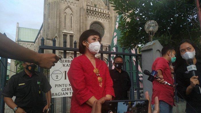 Misa Natal Sore di Gereja Katedral Jakarta Dihadiri 70 Persen Jemaat