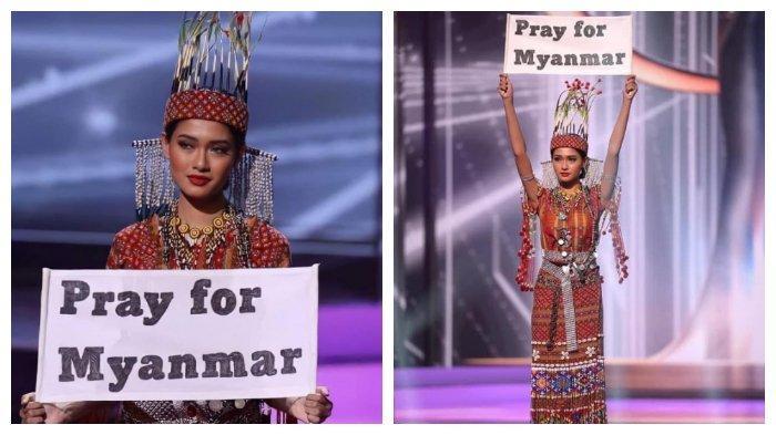 Myanmar Memenangkan Best National Costume di Miss Universe 2020 meski Kenakan Kostum Pengganti