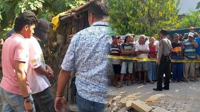 Tim Satreskrim Polres Blora, Jawa Tengah masih melakukan serangkaian pemeriksaan di rumah Ratmiati (36), di Dukuh Guyung, Desa Klagen, Kecamatan Cepu, Kabupaten Blora, Jawa Tengah, Jumat (27/9/2019) (TribunMataram Kolase/ (KOMPAS.COM/PUTHUT DWI PUTRANTO NUGROHO)/(Dokumen Polres Blora))