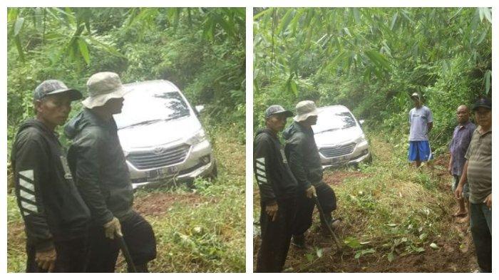 Mobil Avanza dengan nomor polisi Z 1167 LD, yang tersesat di hutan Gunung Putri Majalengka Jawa Barat