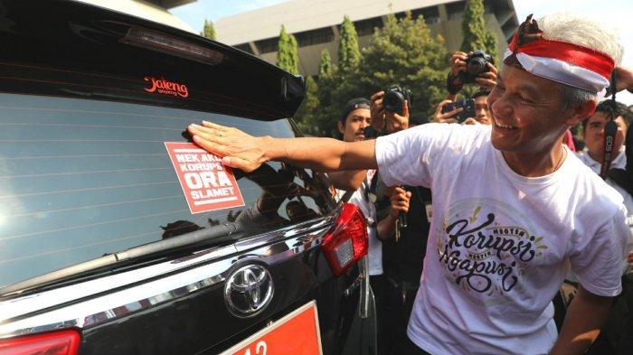 Gubernur Ganjar Pimpin 3000 Pelajar Demo Antikorupsi