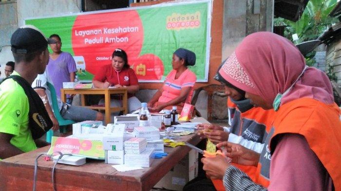 Indosat Bantu Masyarakat Maluku Terdampak Gempa Bumi