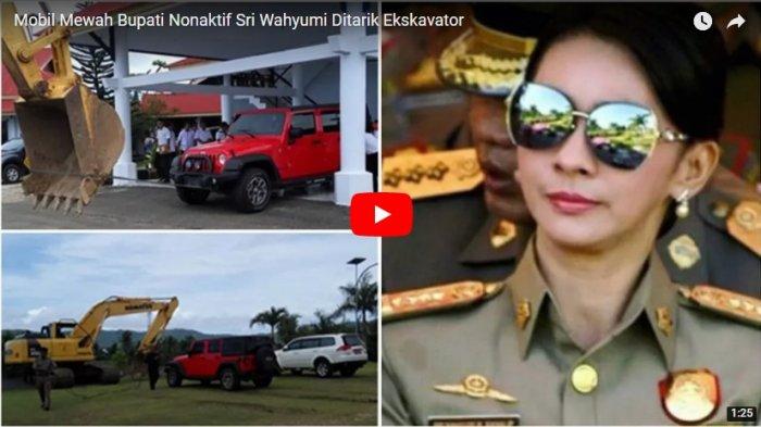 Mobil Mewah Bupati Nonaktif Sri Wahyumi Ditarik Ekskavator