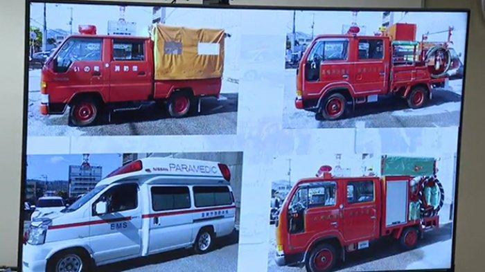 11 Mobil Pemadam Kebakaran dan 2 Ambulans Bekas dari Jepang Disumbangkan ke Sulawesi Selatan