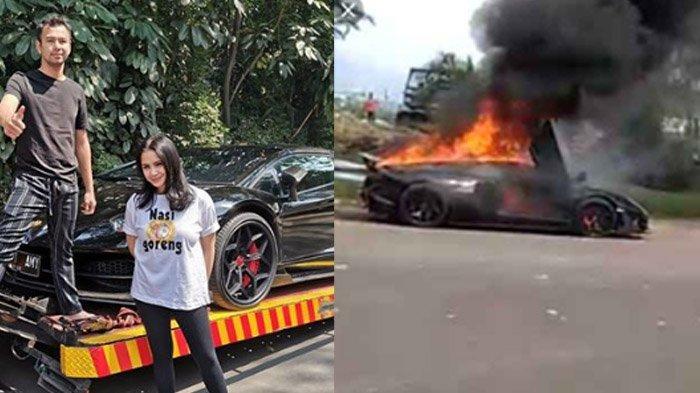 Mobil Raffi Ahmad Terbakar di Sentul, Polisi Stop Truk Tangki Siram Api di Lamborghini