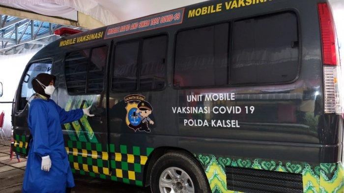 Bantu Pemerintah, Polda Kalsel Luncurkan Dua Mobil Vaksinasi Covid-19