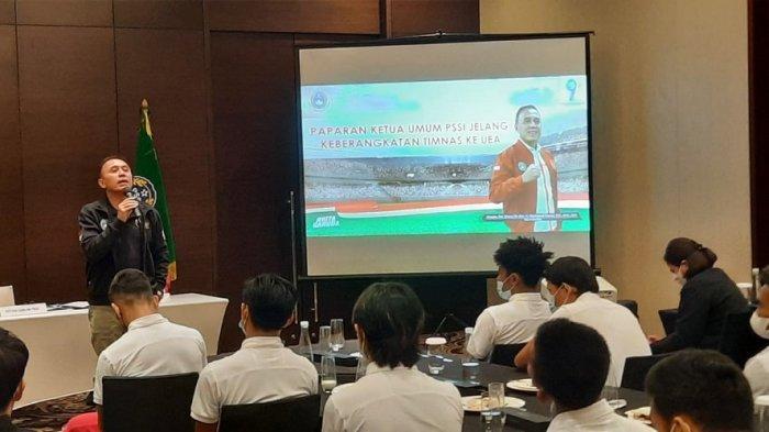 Timnas Indonesia Dapat Semangat dari Ketua Umum PSSI Jelang Keberangkatan ke Dubai
