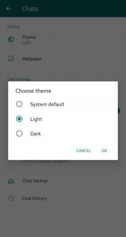 Mode Gelap di WhatsApp (neowin.net)