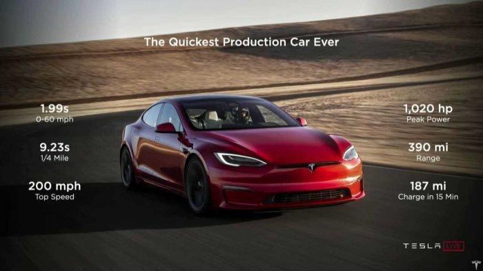 Tesla Luncurkan Model S Plaid, Fitur Terbaru Pengisian Dayanya Sungguh Menakjubkan