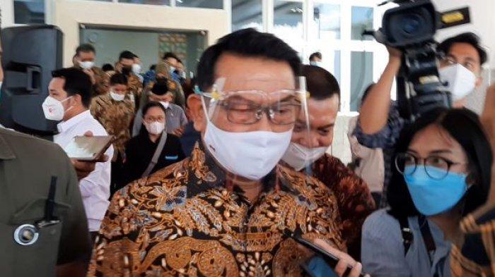 Kepala Staf Presiden Moeldoko saat ditemui usai meninjau Kampus Universitas Islam Internasional Indonesia (UIII), Depok, Jawa Barat, Selasa (20/4/2021).
