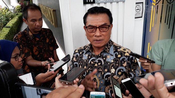 Kepala Staf Kepresidenan Moeldoko di Kompleks Istana Kepresidenan, Jakarta Pusat, Rabu (4/3/2020)
