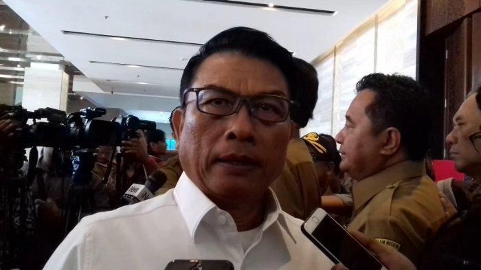 Kepala Kantor Staf Kepresidenan (KSP) Moeldoko saat ditemui di Birawa Hall, Hotel Bidakara, Jakarta Selatan, Senin (11/2/2019).
