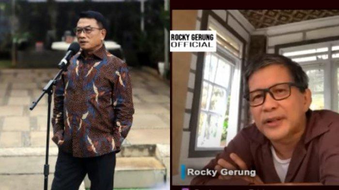 Kepala Staf Presiden Rocky Gerung sebut Moeldoko mencari perlindungan saat menyebut nama Menko Luhut Pandjaitan ketika ditanya soal tudingan akan kudeta Partai Demokrat.