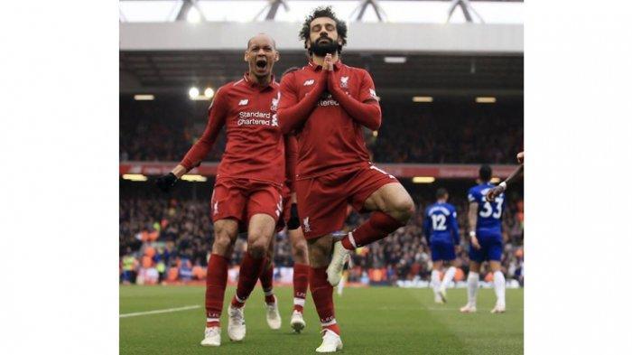 Mohamed Salah Kejar Top Scorer Sementara Liga Inggris Setelah Cetak 1 Gol Tambahan