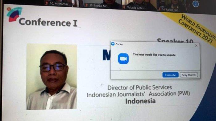 Mohammad Nasir di Konferensi Wartawan se-Dunia: Pers Punya Peran Mensosialisasikan Penanganan Covid