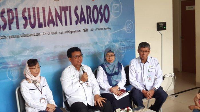 Direktur Utama RSPI Sulianti Saroso dr. Mohammad Syahril di RSPI Sulianti Saroso, Sunter, Jakarta Utara, Kamis (5/3/2020).